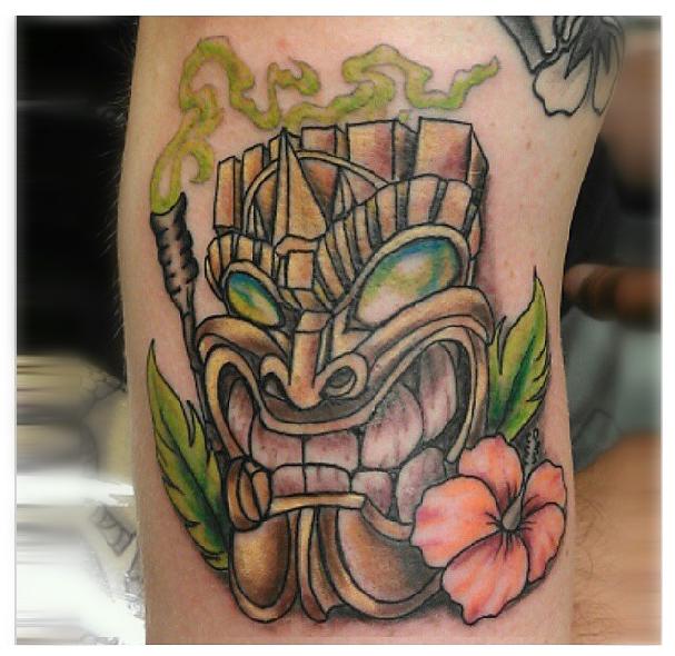 Hawaiian vibrant tiki intelligent ink cqsig com tech for Hawaiian style tattoos