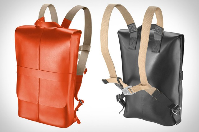 BROOKS ENGLAND LTD. | CYCLE+BAGS+&+ACCOUTREMENTS | PICCADILLY+LEATHER+KNAPSACK