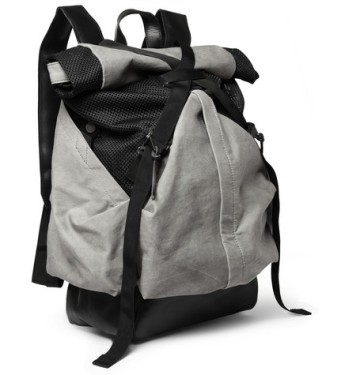 Christopher Raeburn - Aruck Leather and Canvas Backpack | MR PORTER