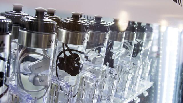 Sony Waterproof mp3 Player Sold Inside Bottle of Water