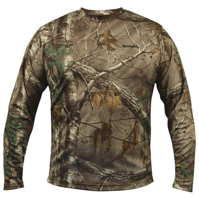 Remington Camo Long Sleeve Wicking Large T-Shirt-887-3401-01LG at The Home Depot