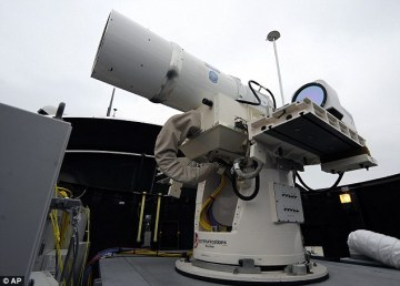 US Navy fine tunes seafaring laser weapon and unmanned robocopters (video)