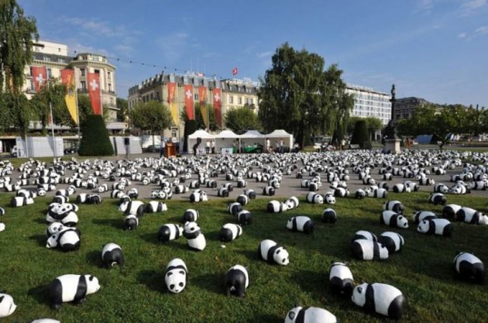 1600 Paper Mache Pandas Pop Up in Hong Kong to Raise Awareness for Endangered Animals | Inhabitat - Sustainable Design Innovation, Eco Architecture, Green Building