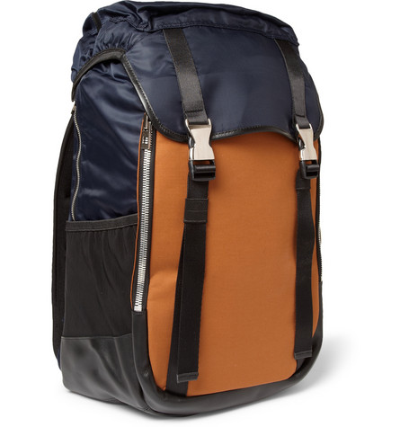 Wooyoungmi - Panelled Leather-Trimmed Backpack | MR PORTER