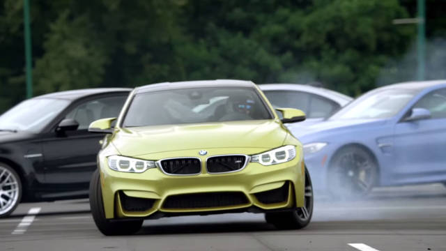 Watch a BMW M4 drift around 37 M siblings - Road & Track