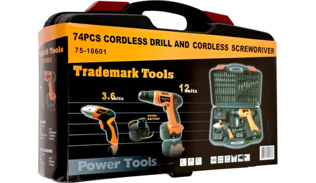 Stalwart 74-Piece Combo Cordless Drill & Driver